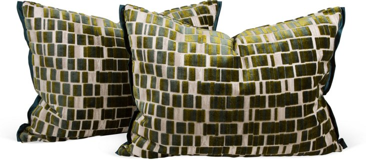 J. Thompson Fabric Pillows, Pair II