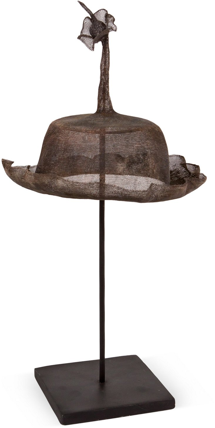 Ceremonial Metal Hat on Stand I