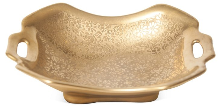 Square Gold Dish