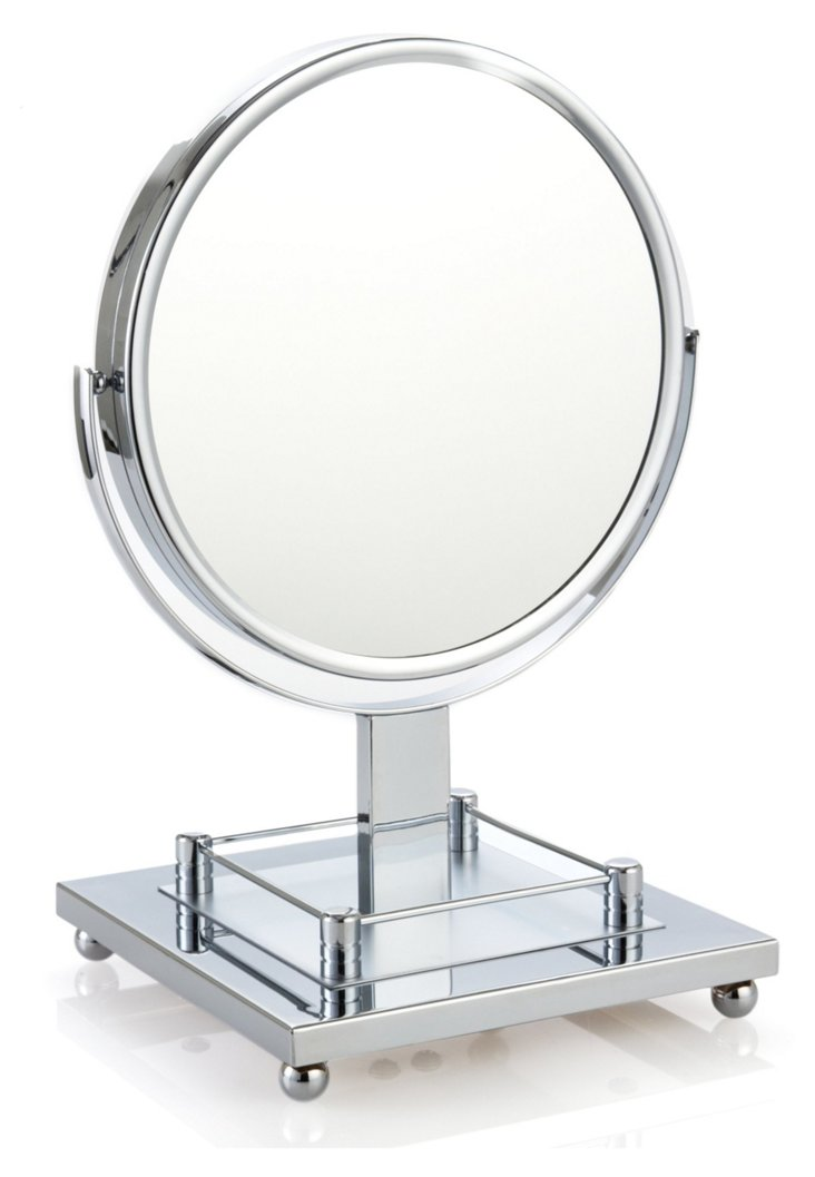 Grand Vanity Mirror, Satin Chrome
