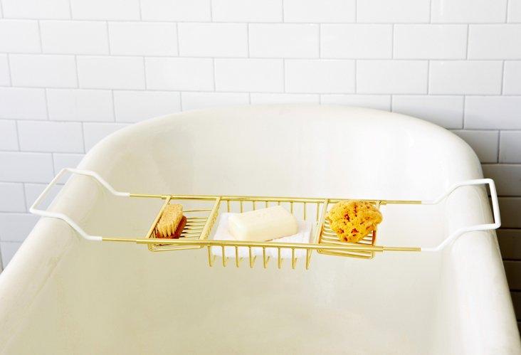 Standard Bath Caddy, Brass