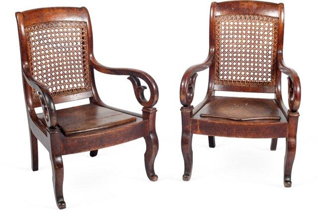 Antique Child's Chairs, Pair