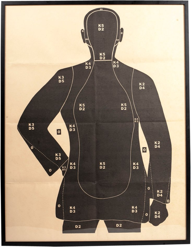 Vintage Framed Gun Target