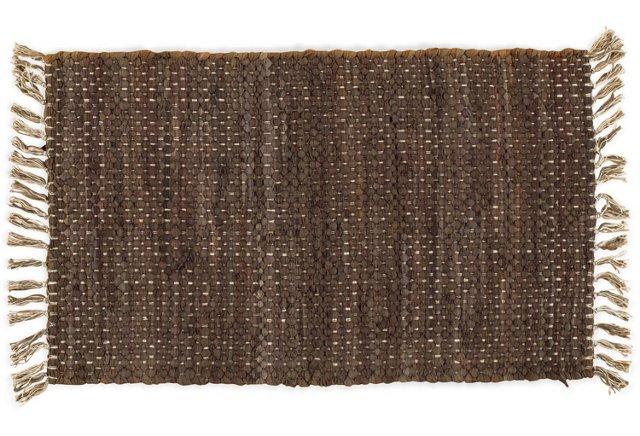 2'x3' Ewelin Flat-Weave Rug, Mocha