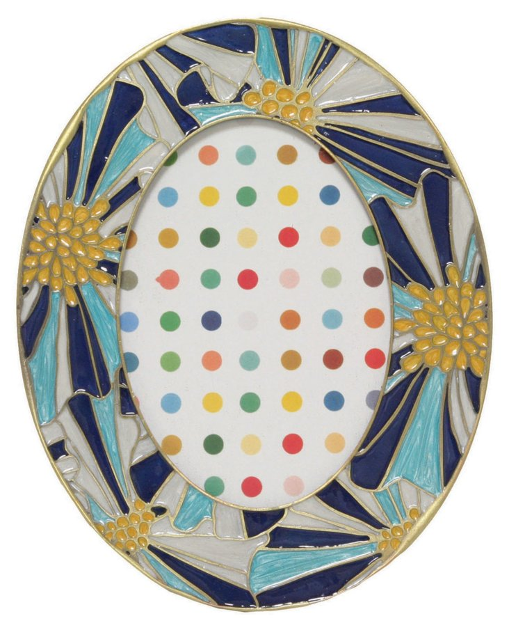 4x6 Oval Kaleidoscope Frame