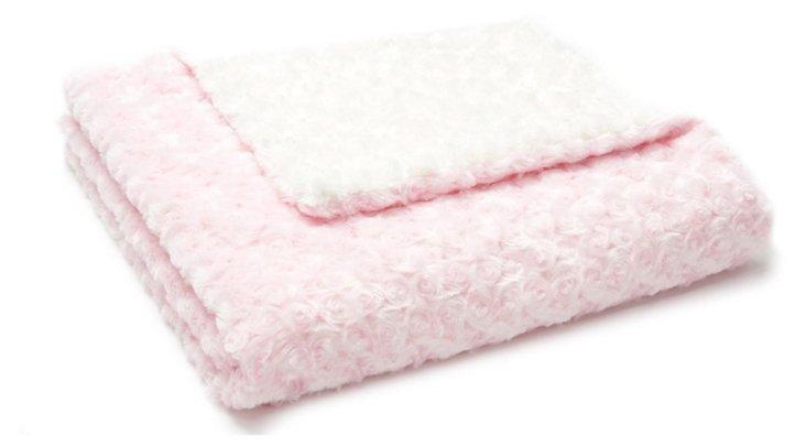 Rosebud Baby Blanket, Pink