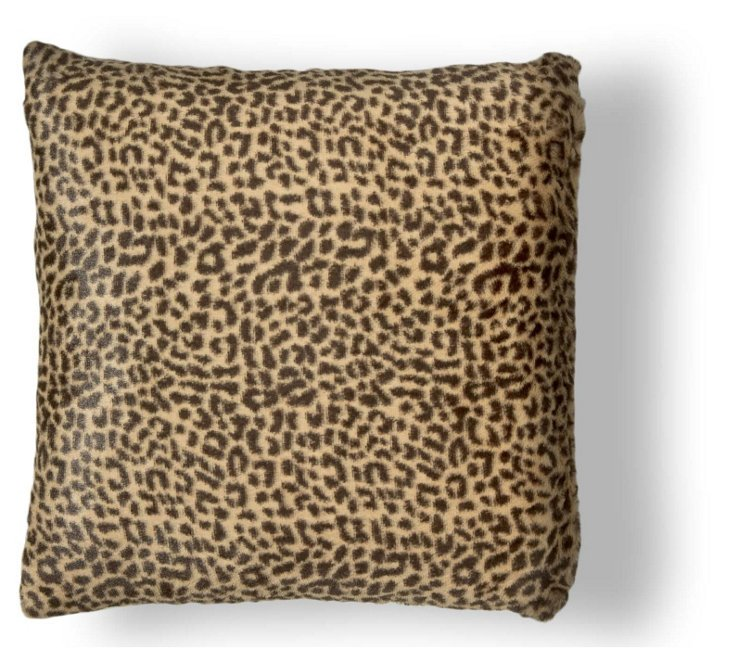 Cheetah 20x20 Pillow, Tan