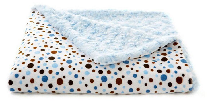 Dots Baby Blanket, Blue