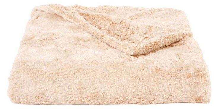Lux Rabbit Throw, Camel
