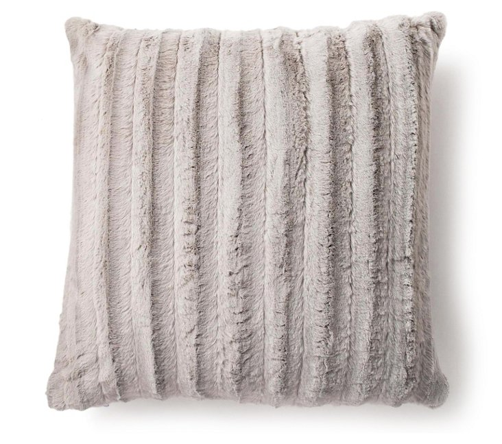 Channel 20x20 Pillow, Silver