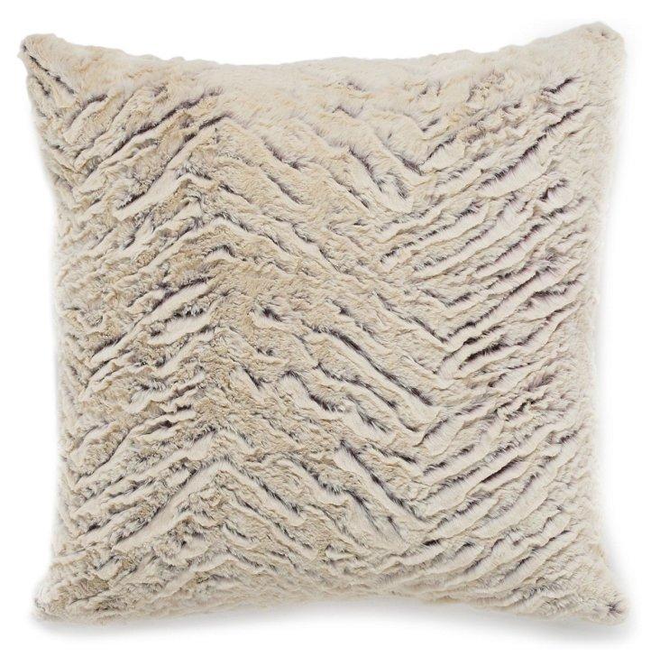 Zebra 20x20 Pillow, Cream