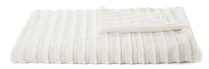 Oversize Channel Throw, Ivory