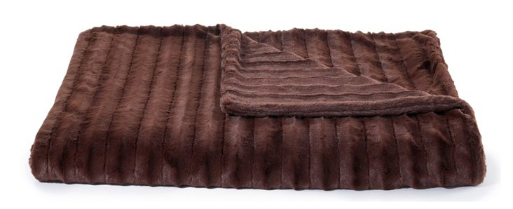 Oversize Channel Throw, Chocolate