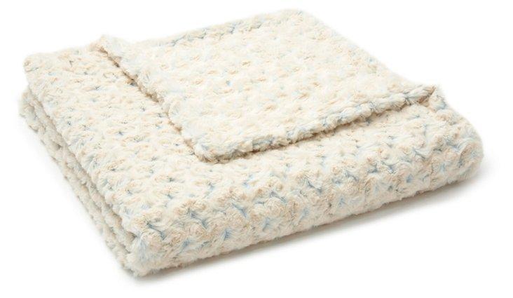 Rosebud Toddler Blanket, Blue