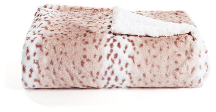 Oversize Leopard Throw, Multi