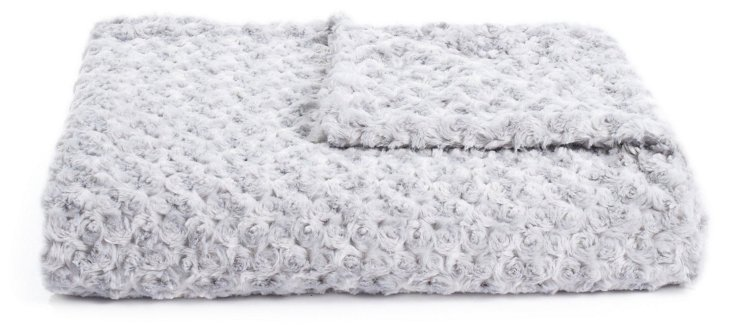 Rosebud Throw, Silver