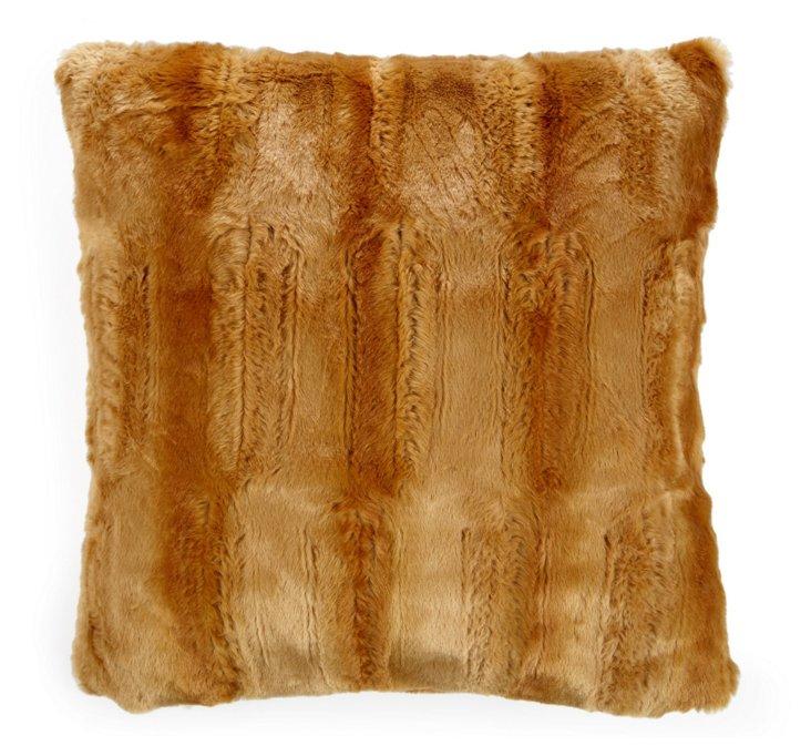 Mink 20x20 Pillow, Light Camel