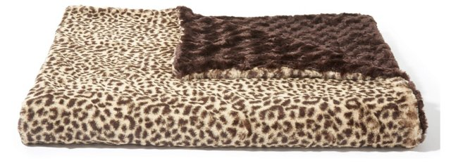 Cheetah Throw, Brown/Beige