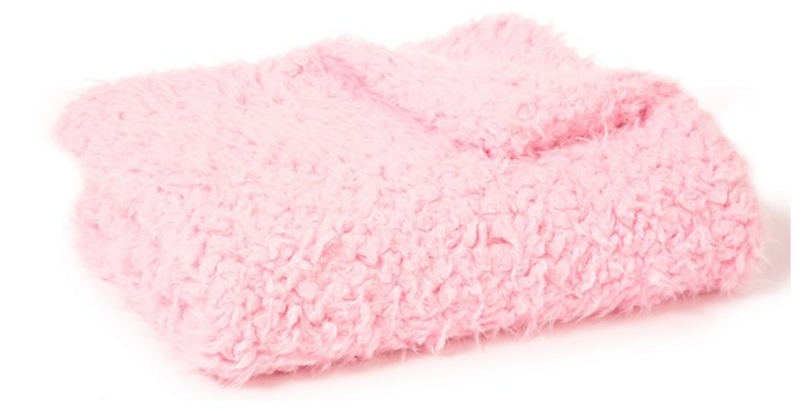 Lux Sheep Baby Blanket, Pink