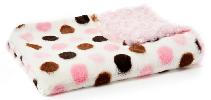 Dots Baby Blanket, Pink