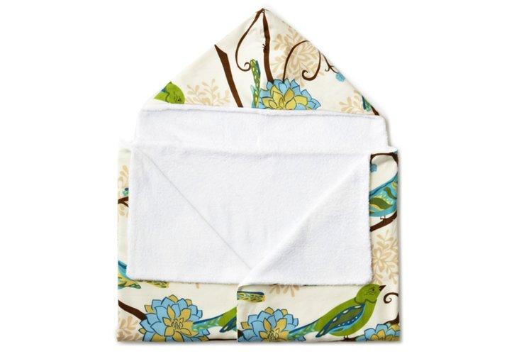 Birds Hooded Towel