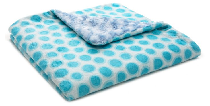 Jelly Dot Baby Blanket, Blue