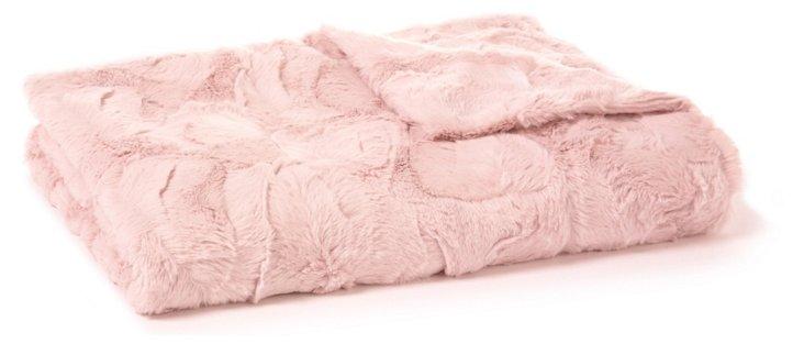 Rabbit Blush Baby Blanket