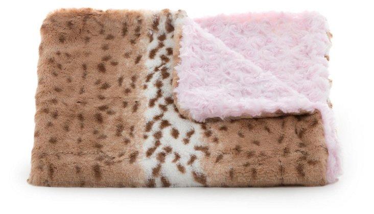 Leopard Toddler Blanket, Pink