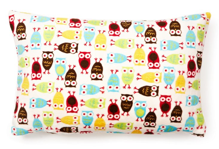 Owls Toddler Pillow, Blue