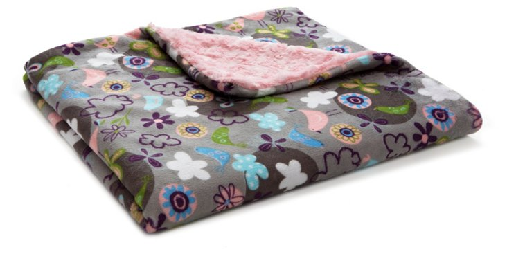 Garden Toddler Blanket, Pink