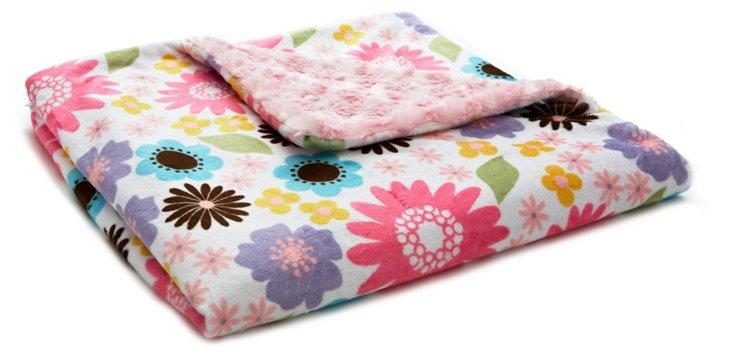 May Flowers Faux-Fur Toddler Blanket