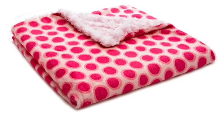 Jelly Dot Toddler Blanket, Pink