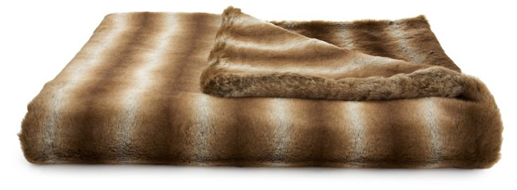 Chinchilla Throw, Brown