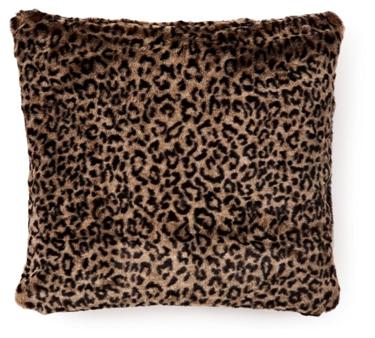 African Leopard 20x20 Pillow, Multi