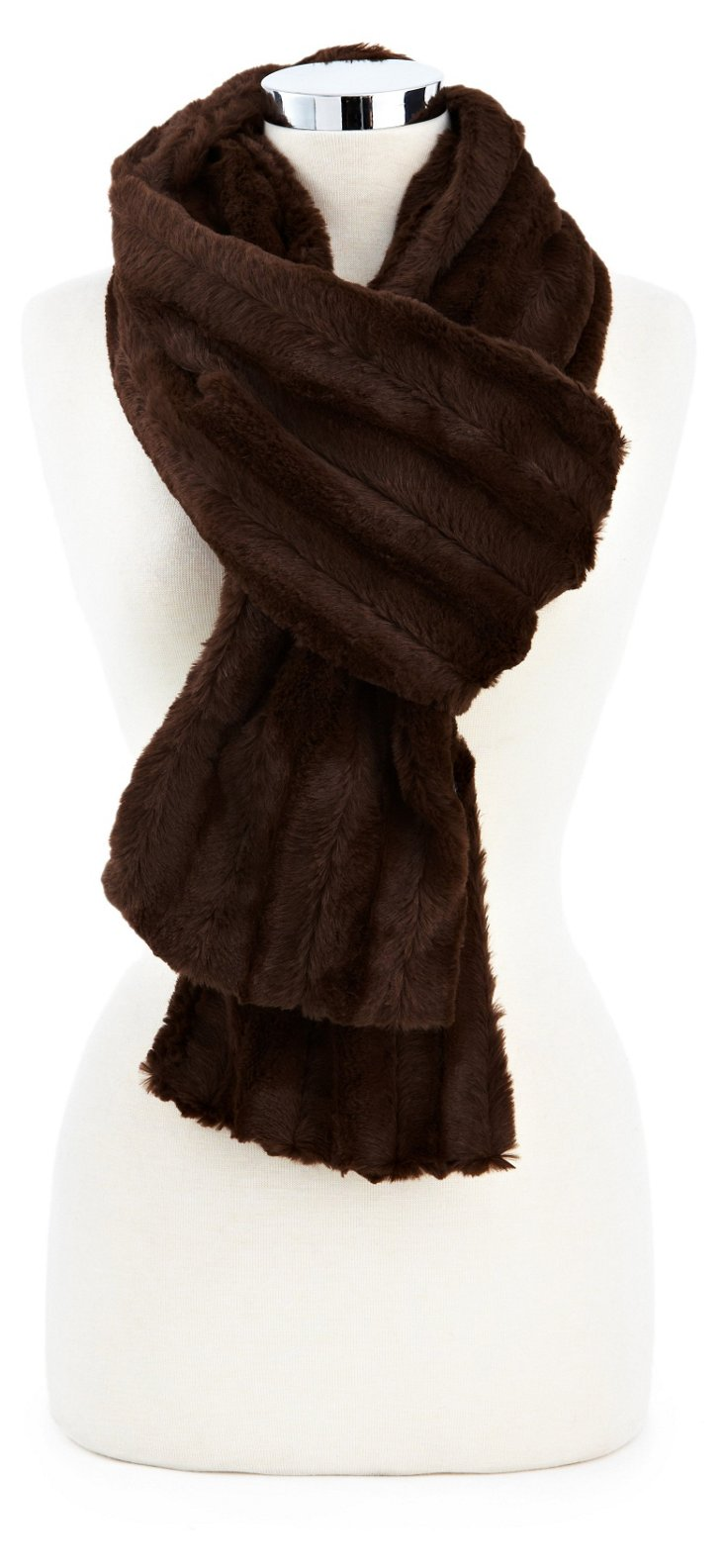 Channel Scarf, Chocolate