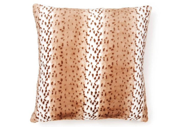 Oversize Leopard 24x24 Pillow, Multi