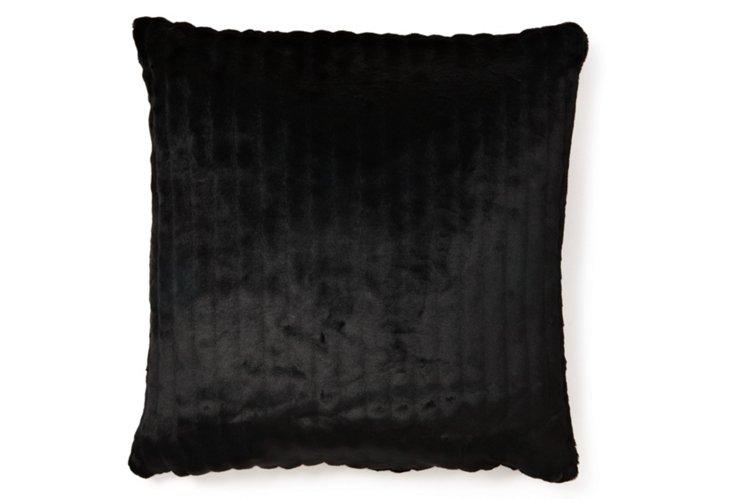 Oversize Mink 24x24 Pillow, Black
