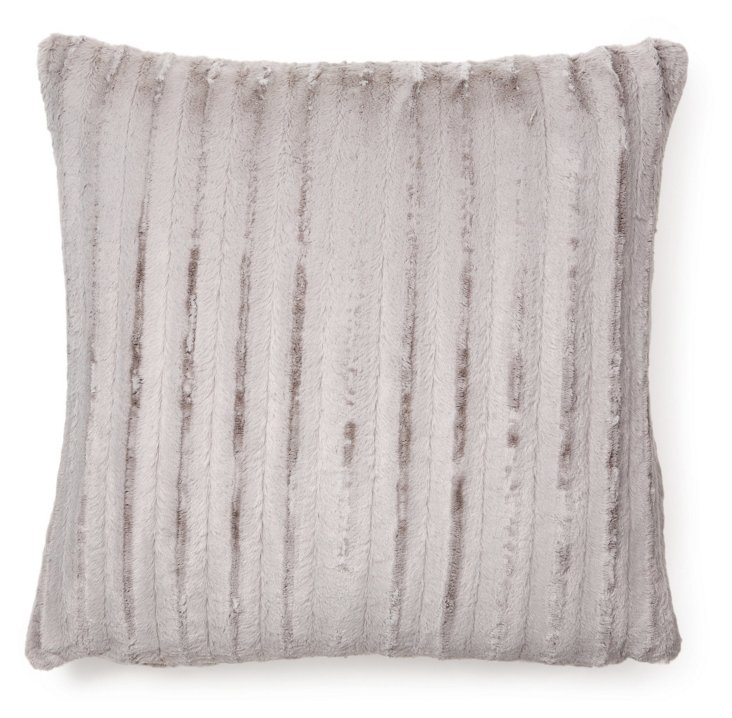 Channel 24x24 Pillow, Silver