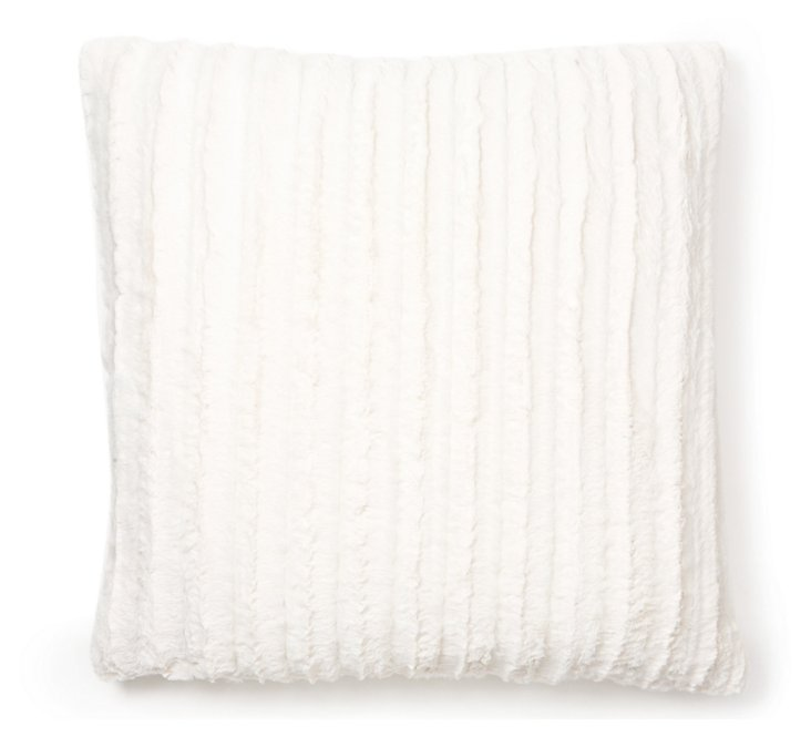 Channel 24x24 Pillow, Ivory