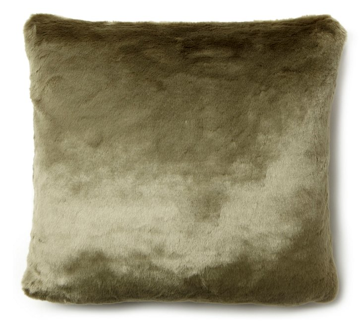 Mink 20x20 Pillow, Olive