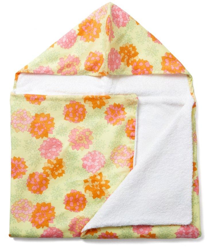 Hydrangea Float Hooded Towel