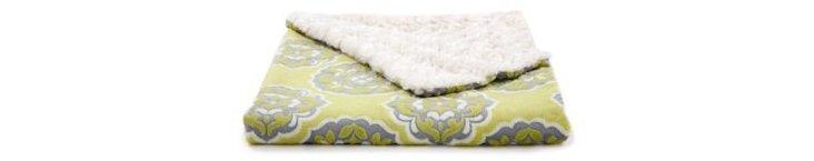 Annabella Faux-Fur Toddler Blanket, Sage