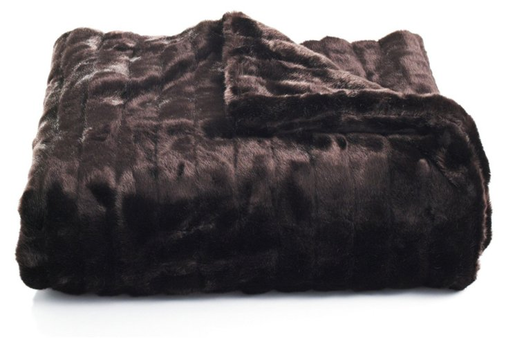 Mink Throw, Chocolate