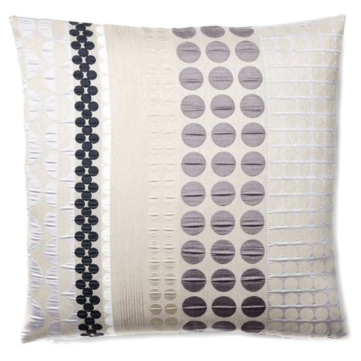 Emely 20x20 Pillow, Slate/Charcoal