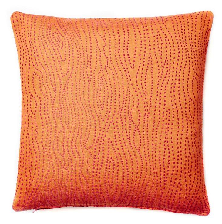 Lines 20x20 Down Pillow, Orange