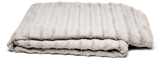 Channel Reversible Throw, Sand/Silver