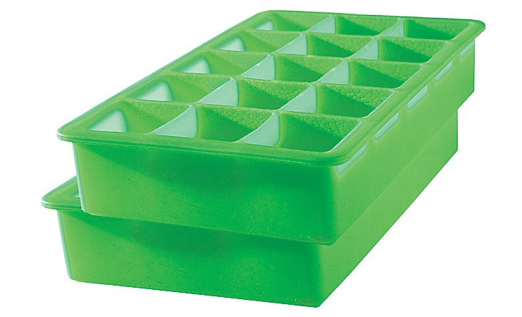 S/2 Perfect Cube Trays, Green