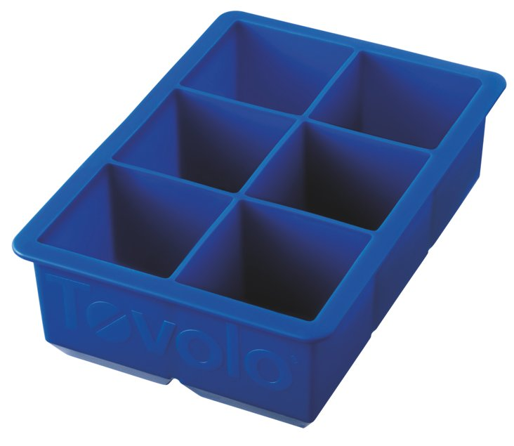 S/2 King Cube Ice Trays, Blue