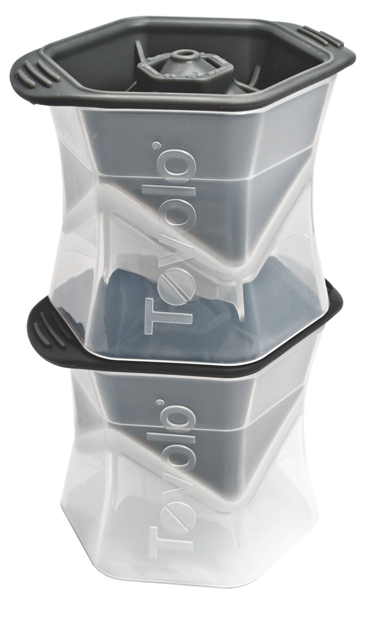 S/2 Colossal Ice Cube Molds, Gray