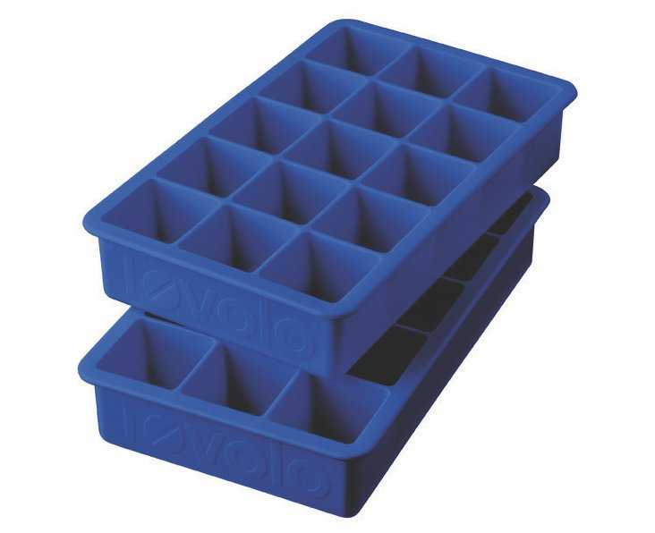 S/2 Perfect Cube Ice Trays, Blue